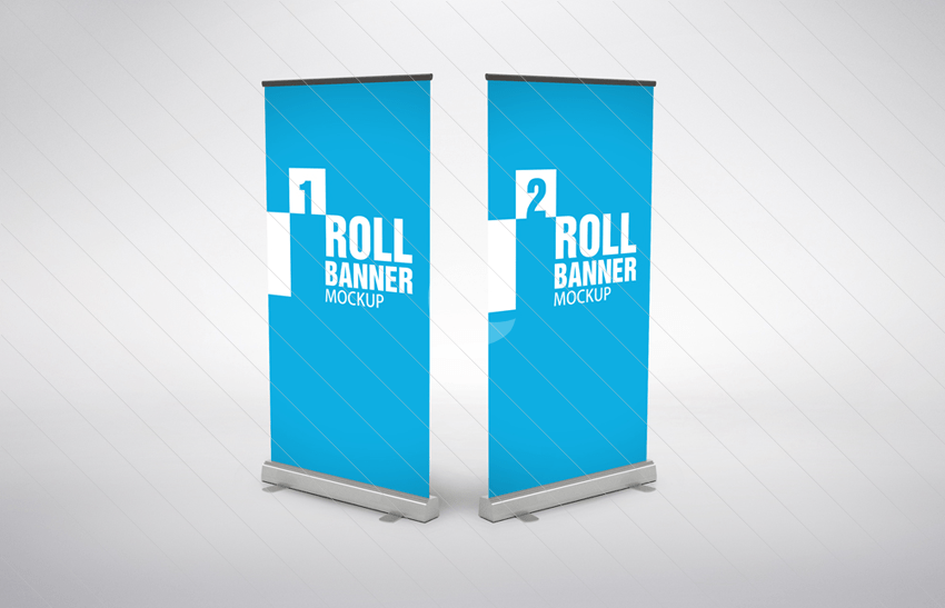 14 roll up banner