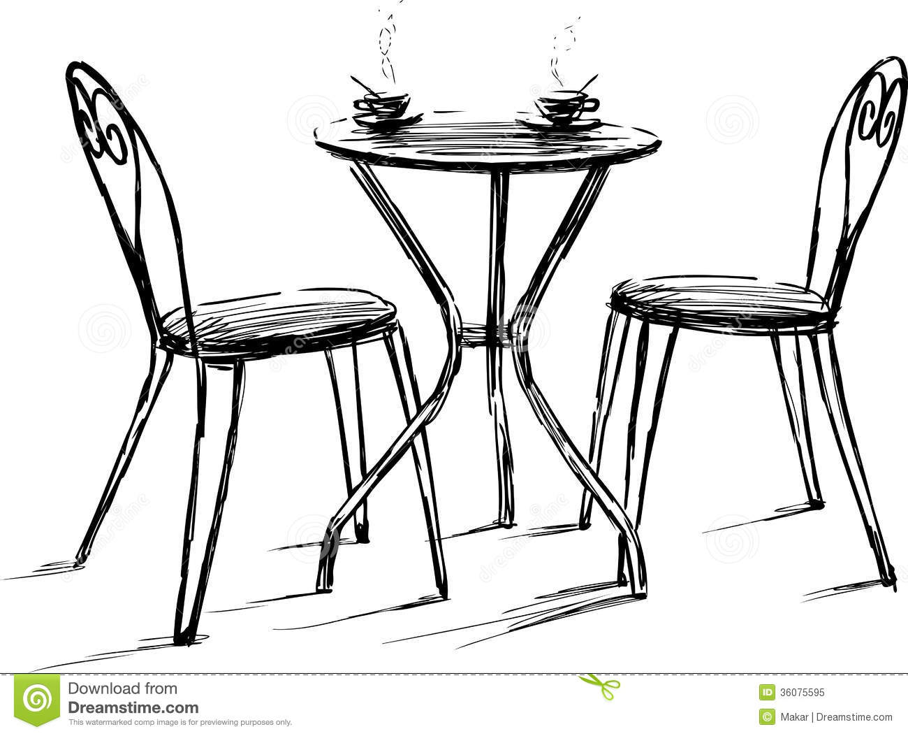 retro cafe table and chairs sam s club upholstered 17 plan vector images free floor