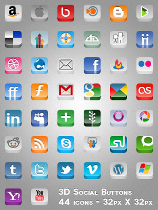 18 Free Web Icons And Buttons Images Free Button Icons