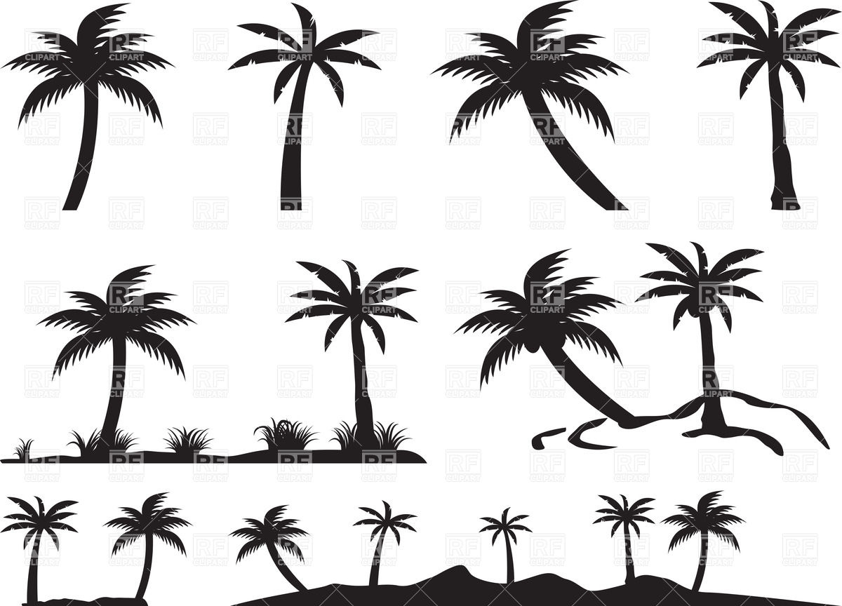 15 Island Silhouette Vector Images