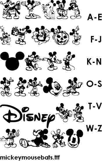 13 Printable Happy Birthday Mickey Mouse Font Images