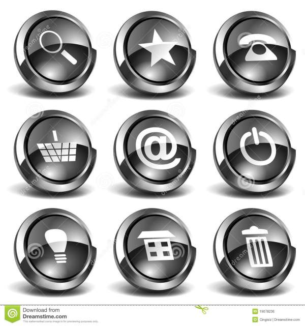 17 3D Website Buttons And Icons Images Web Buttons and