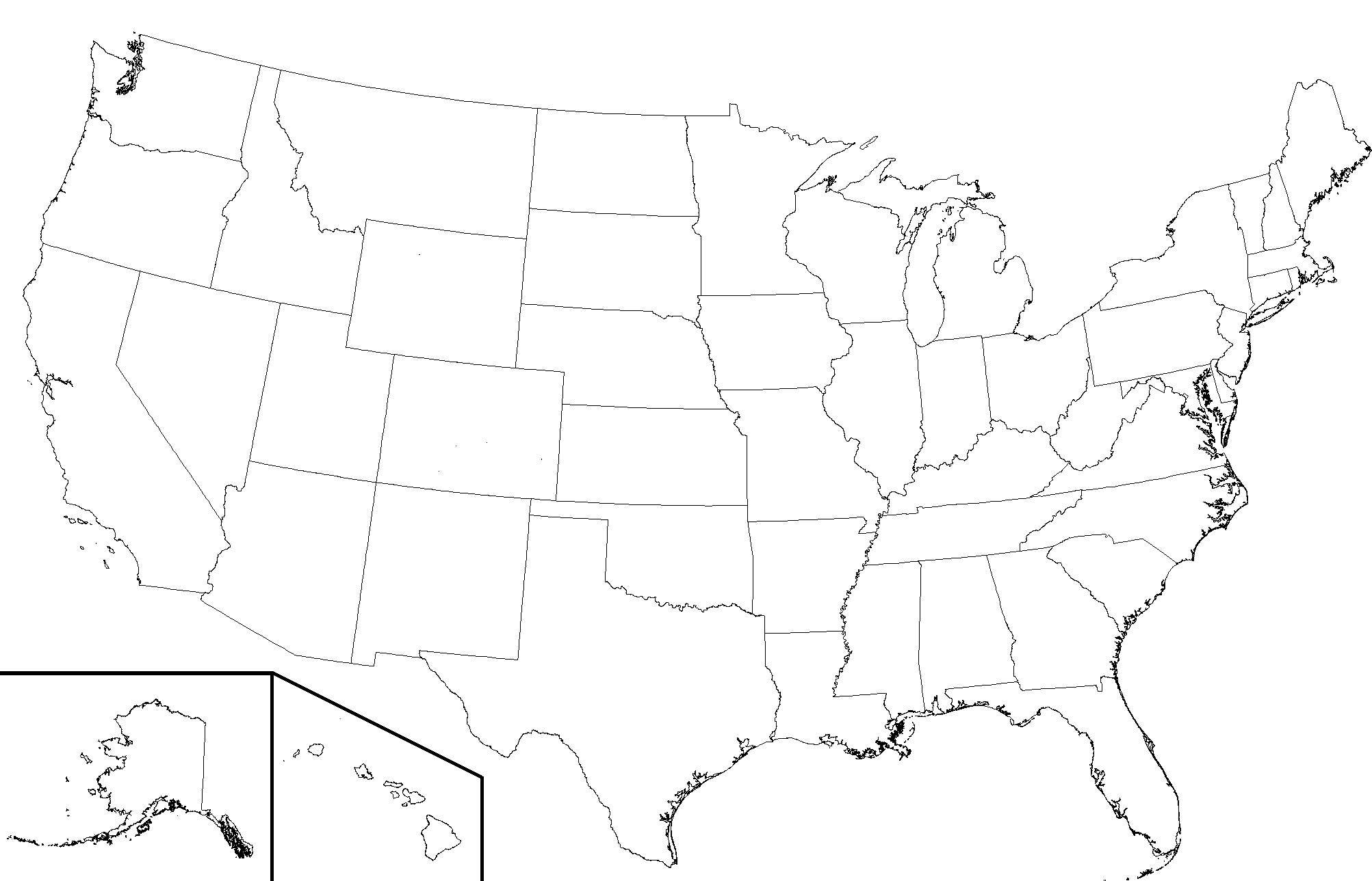 12 Blank Usa Map Vector United States Images