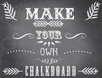15 Chalkboard Graphic Design Images - Wall Graphic Words ...