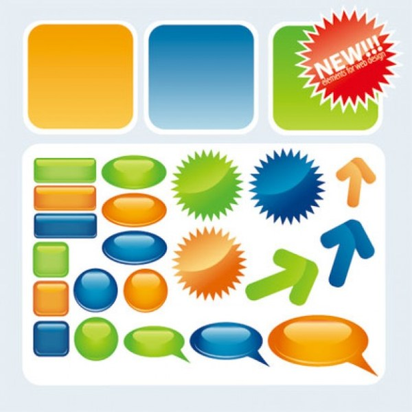 12 Free Vector Web Icons Buttons Images Free Vector Web