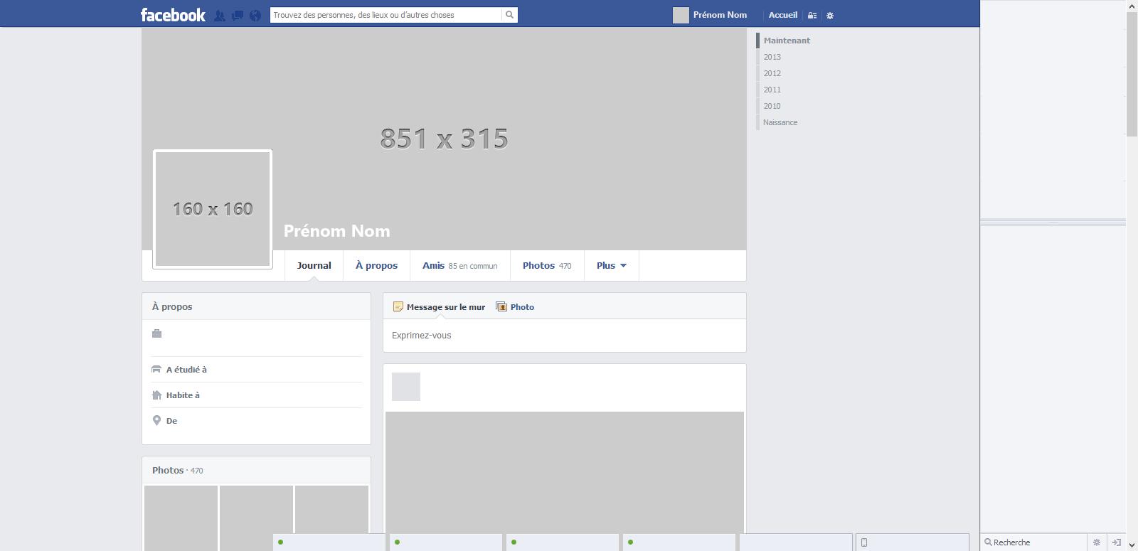 16 Facebook PSD Templates Images  Facebook Timeline Page Template Facebook Profile Template