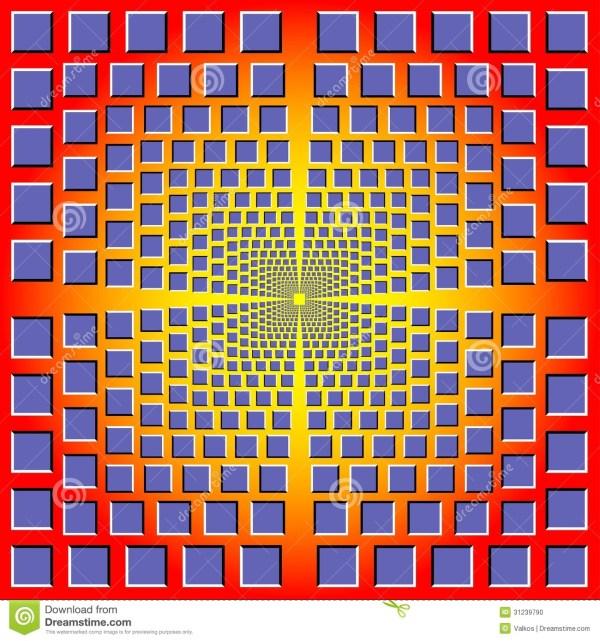 Geometric Shape Design Illusion - Simple