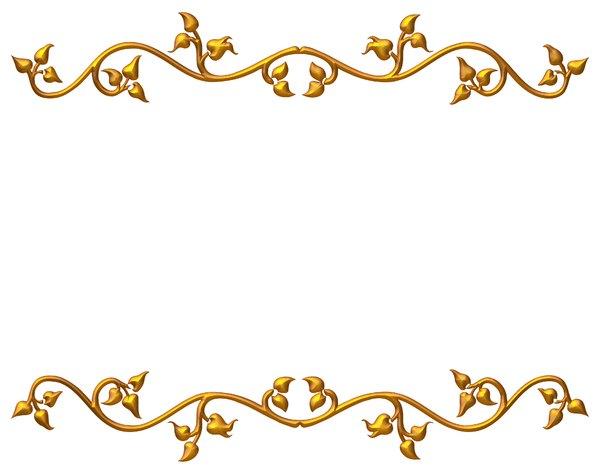 gold transparent green frame