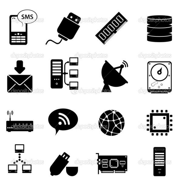 Computer Technology Clip Art Icon