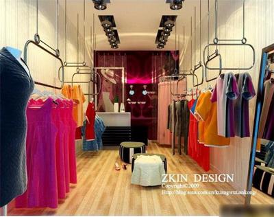 16 3D Garment Shop Design Images  Retail Store 3D Design