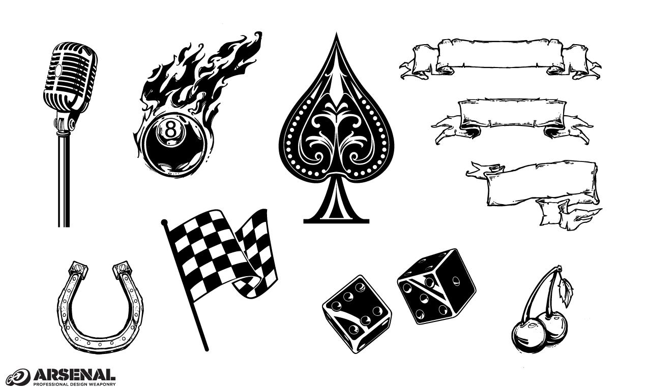11 Vintage Vector Symbols Images