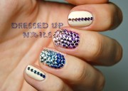 8 nail design with rhinestones