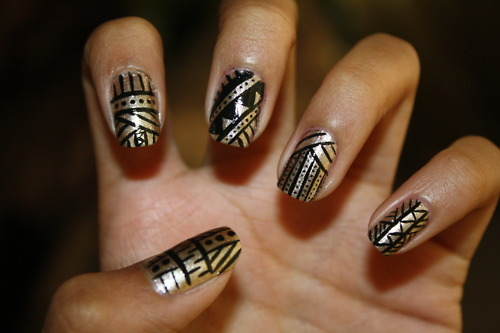 14 Black Nail Designs Tumblr Images