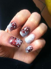 12 Christmas Acrylic Nail Designs Images - Christmas ...