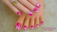 18 Pink Flower Nail Designs Images - Pink Flower Nail ...