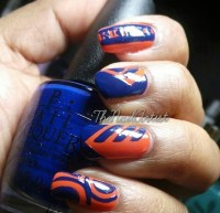 15 Orange And Blue Nail Designs Images - Orange and Blue ...