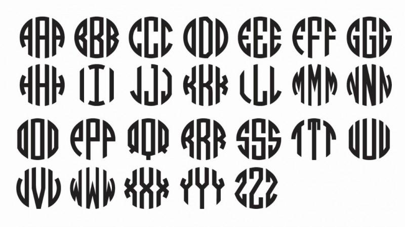 circle monogram fonts free download
