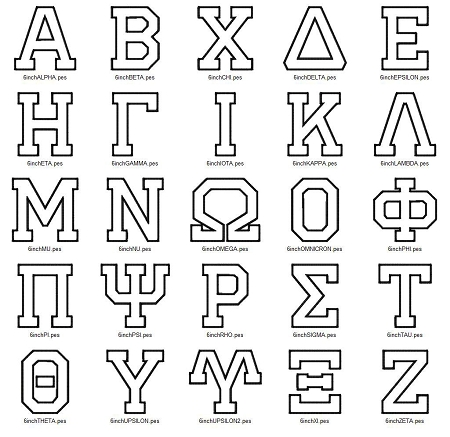 Greek Alphabet FraternitySorority Font Set of 72 gas0001 t