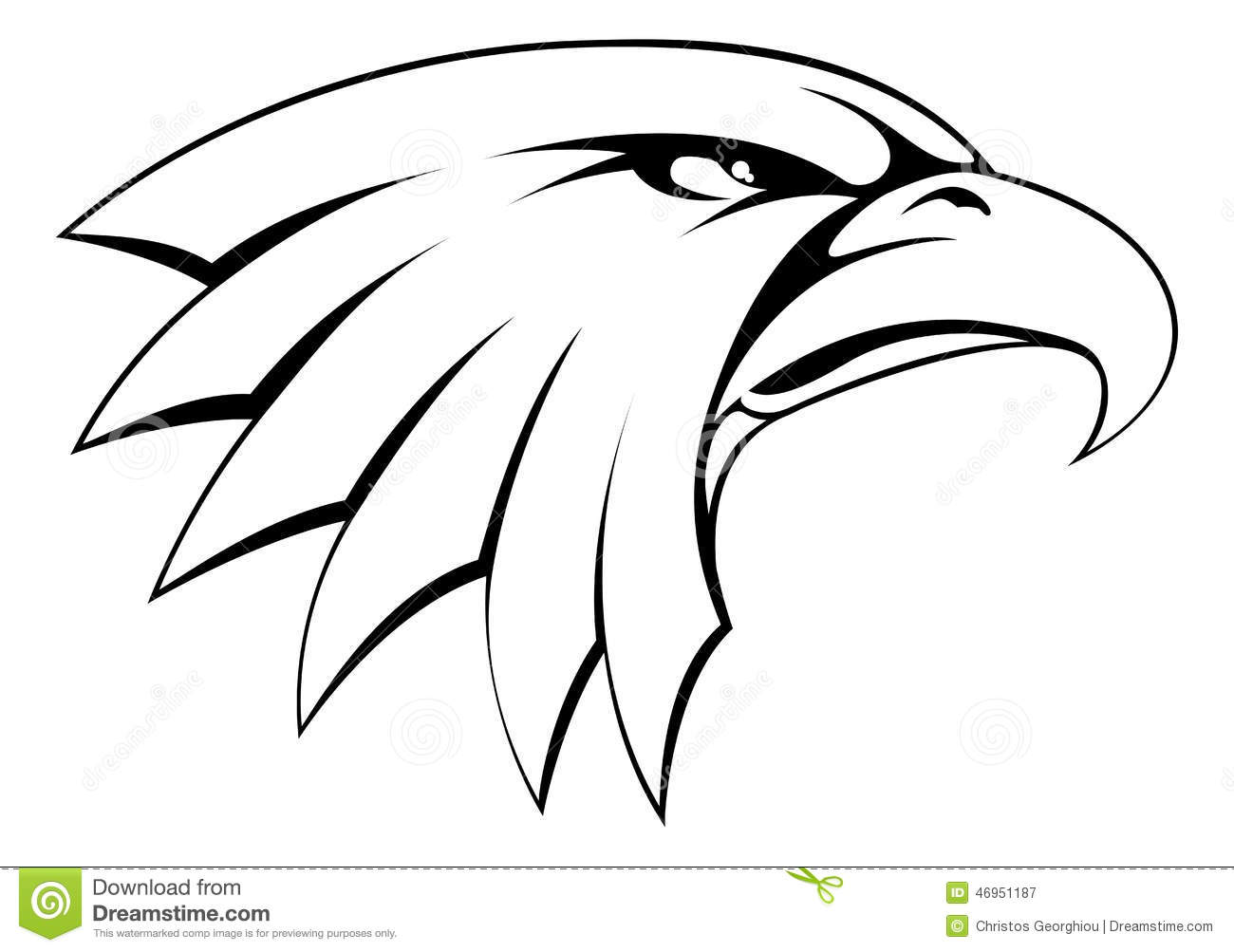 Eagle Head Outline