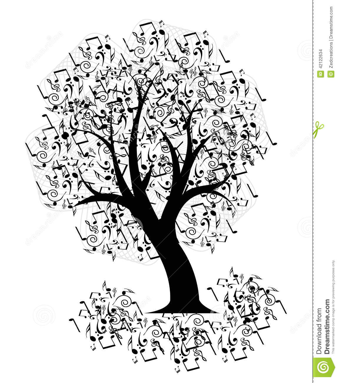 19 Design Abstract Music Tree Images
