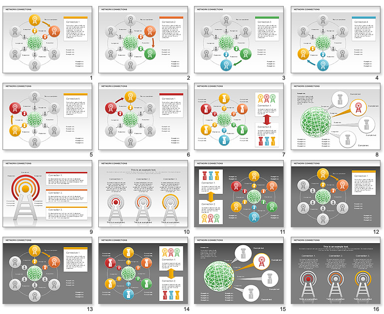 14 powerpoint network diagram
