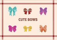 11 Cute Bow Vector Images - Bow Silhouette Clip Art, Pink ...