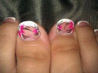 15 Flower Pedicure Designs Images - Pedicure Toe Nail ...