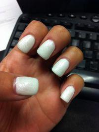 16 Glitter White Gel Nails Designs Images - White Nail ...