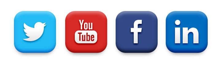 Image result for facebook twitter linkedin youtube icons
