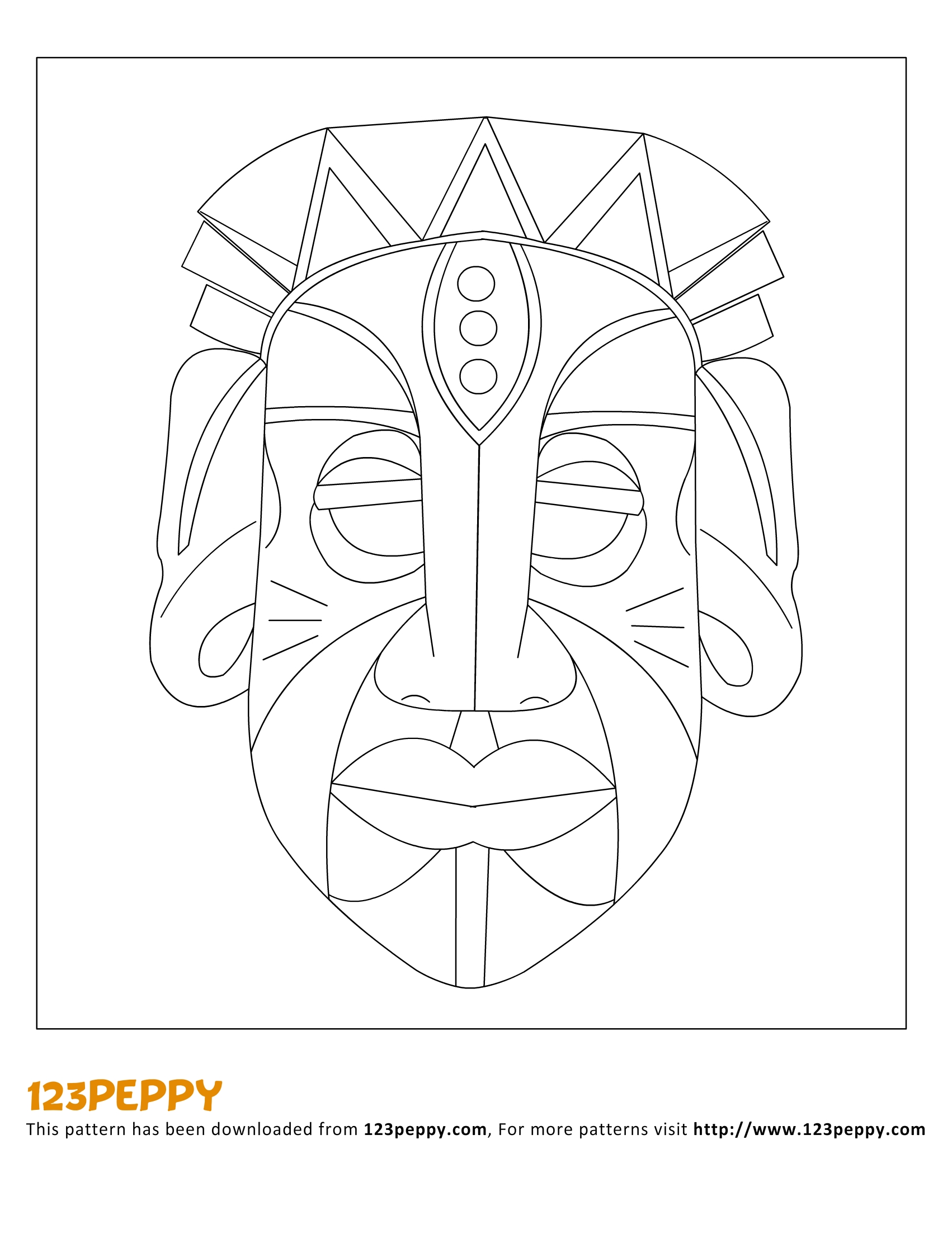 13 African Mask Template Images