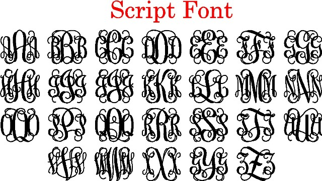 Interlocking Script Monogram Generator