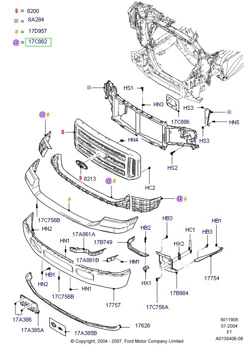 Ford F150 Parts Diagram 2003