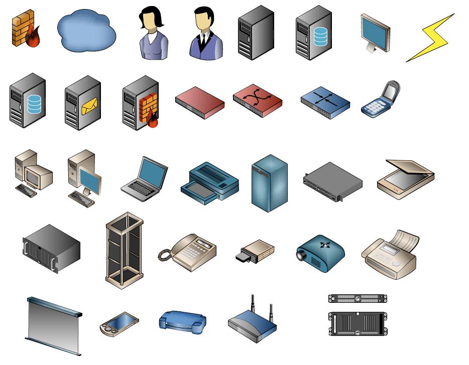 Network Diagram Symbols Standard Network Diagram Symbols Wiring