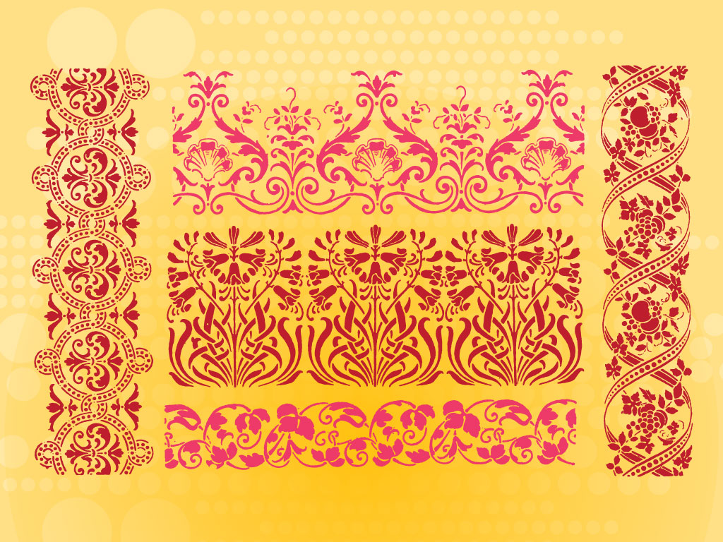 18 Flower Border Pattern Vector Images - Vector Floral Border Designs. Fancy Round Border Vector and Free Vector Borders Download / Newdesignfile.com