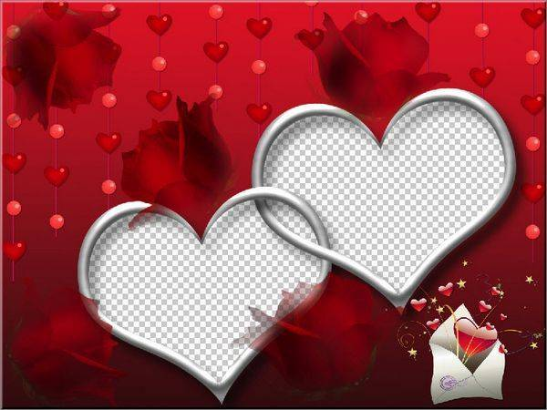 14 Heart Frame PSD Template Images Photoshop Frames Template Heart Rose Heart Borders And