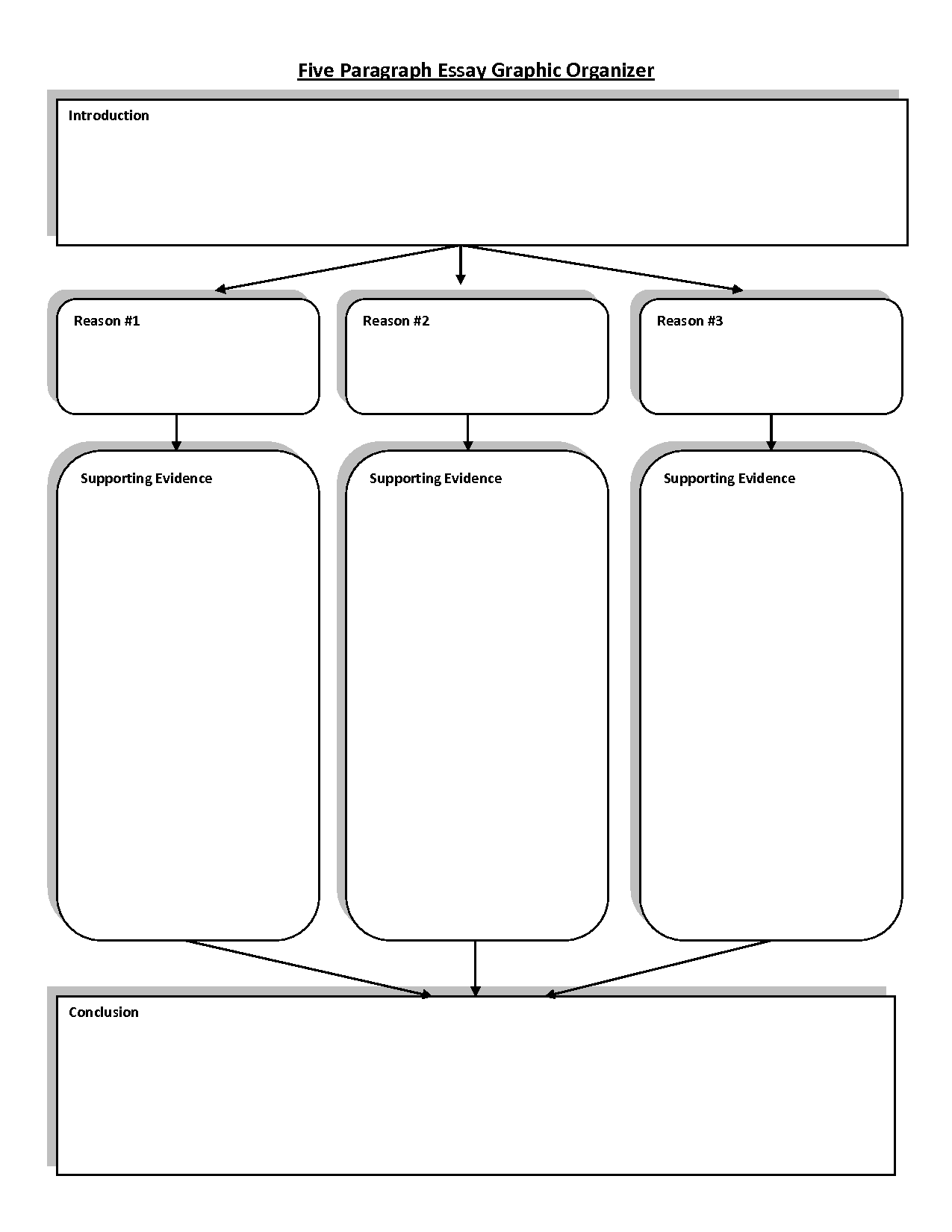 Graphic Organizers For Writing 5 Paragraph Essays Ideas
