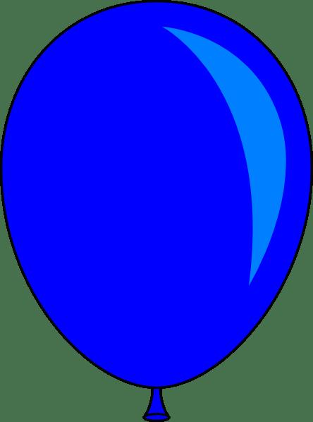 blue balloon vector