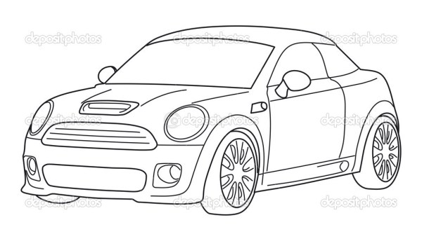 black and white vector car