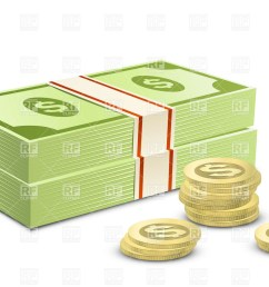 dollars and coins clip art [ 1200 x 813 Pixel ]