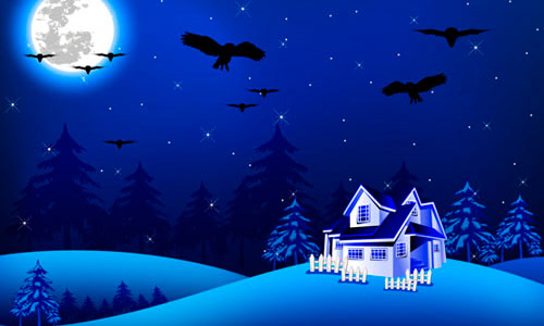 16 Night Scenery Vector Images  How to Draw Night Scene