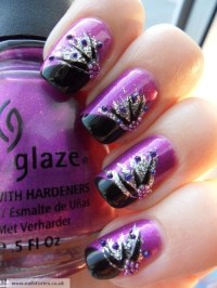 14 Black Purple And Silver Nail Designs Images