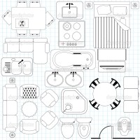 7 Floor Plan Furniture Vector Images