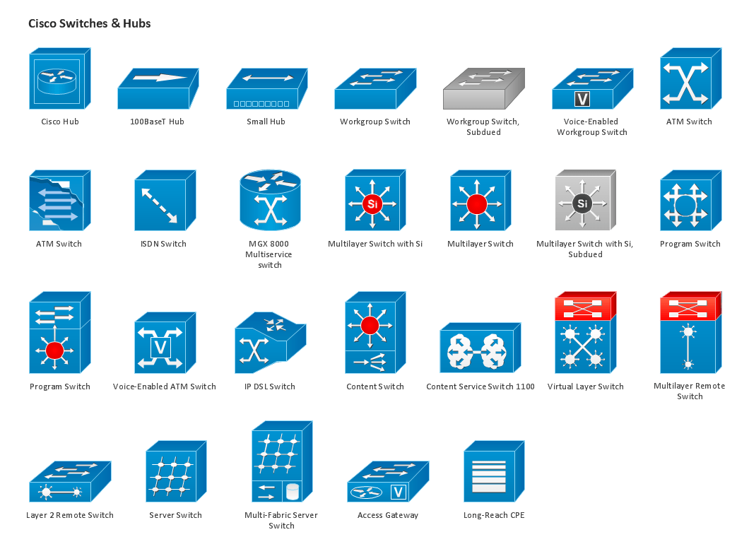 11 network diagram icons