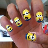 9 Minion Nail Art Designs Images