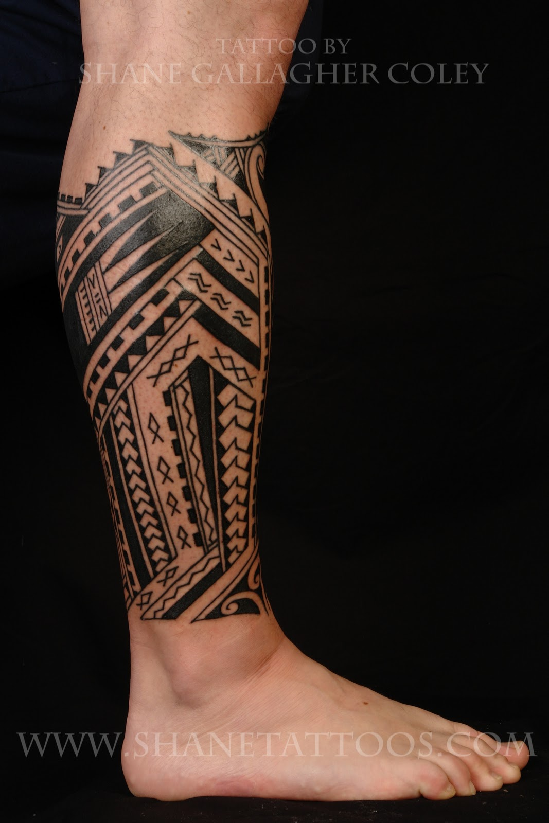 Hawaiian Tribal Forearm Tattoos