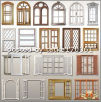 12 Wooden House Windows PSD Images - Window Frame Shapes ...