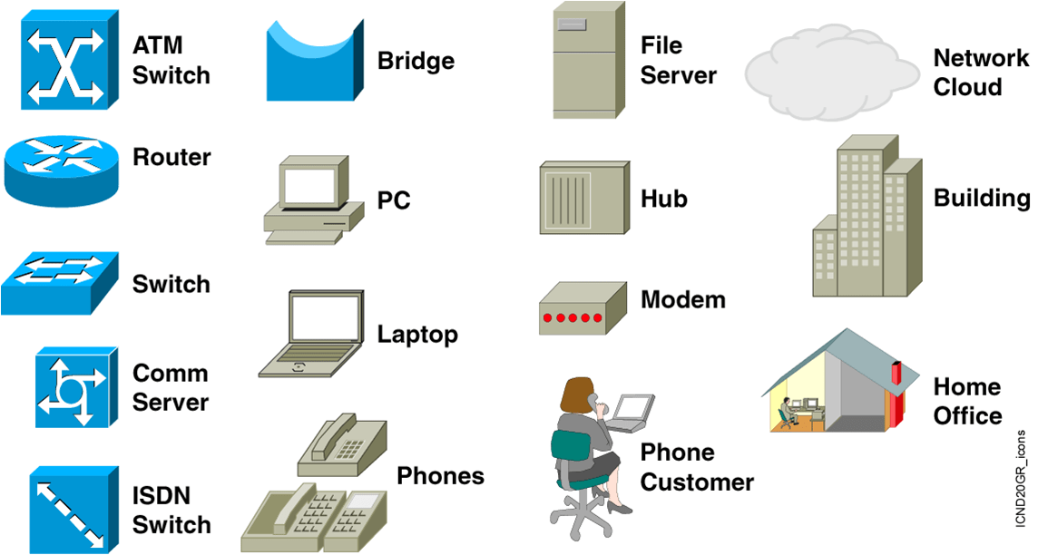 8 network topology icons
