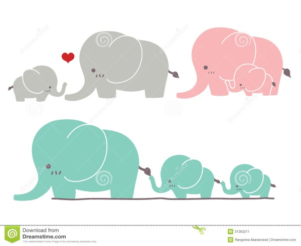 cute elephant clip art vector