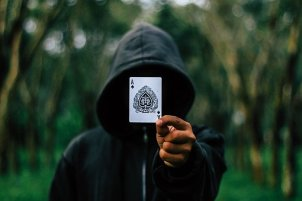 hooded magician