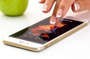 swiping on an iPhone